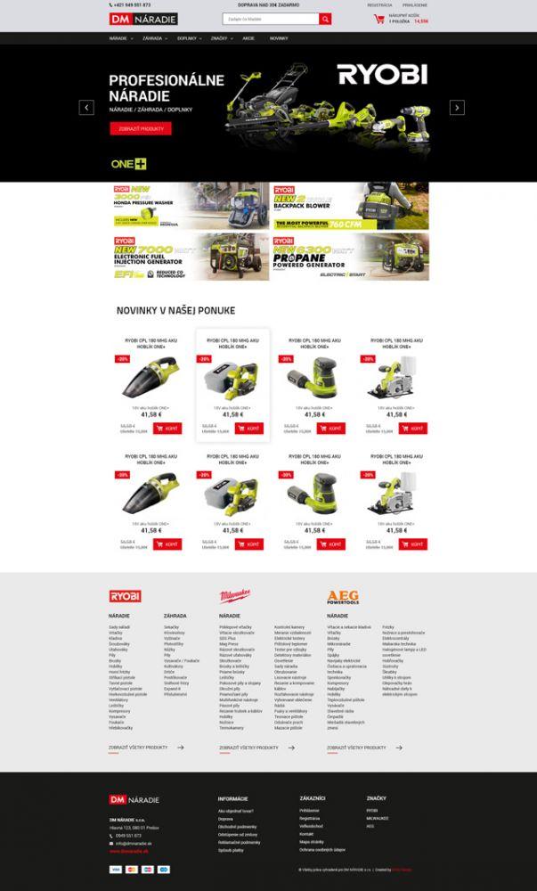 8fc0552adac7d DM Naradie - tvorba web stránky - MI:SU Design