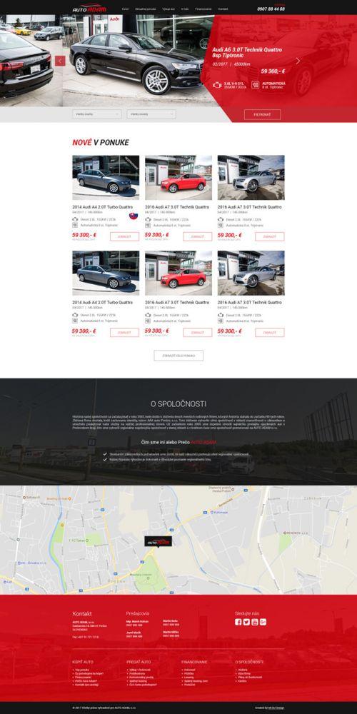 Auto Adam -Web stránka - MI SU Design 33c59069c0e